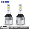 Oslamp 72W pair 9005 HB3 Car Led Headlight Bulb CREE CSP Chips Cold White 6500K 8000lm