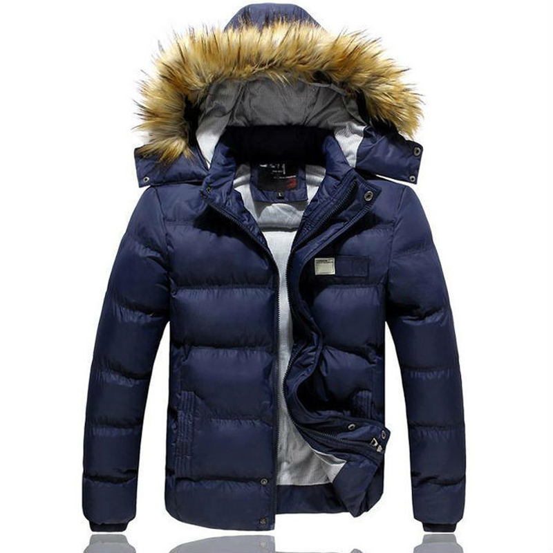 Winter Men Clothes 2015 Fashion Cotton padded Thick Warm Coats Solid Men s Hooded Outwear Jackets