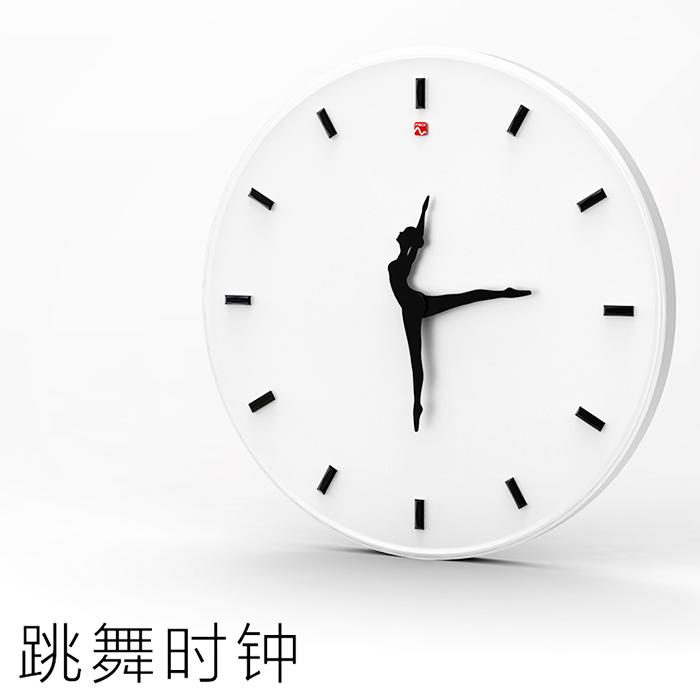 mscx design ballet girl clock personalized decoration dance wall clock gift(China (Mainland))