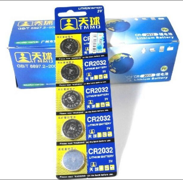 Free shipping 10 Pcs 3V LM2032 CR2032 Coin Cell Button Wholesale High Capacity Lithium Battery For Toys Remote/Watch(China (Mainland))