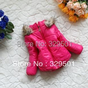 2013 winter girl's quilted jacket cotton-padded clothes,girls flowers outerwear,baby coat,warm jacket,children's kid clothing