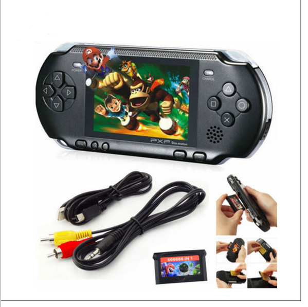 Hot Sale 2016 PXP3 2.7inch 16 Bit Portable Handheld Video Game Players SLIM Games Console with 160 kinds of Games + Game Card(China (Mainland))