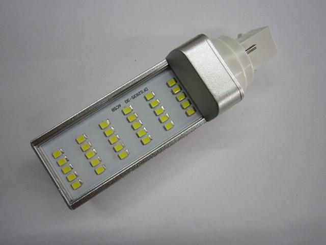 free shipping G23/G24 base,8w power, led pl lamp with 30pcs smd2835,85-265v led,<br><br>Aliexpress