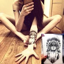 Indian Warriors Temporary Tattoo Body Art Flash Tattoo Stickers, 12*20cm Waterproof Tatto Henna Tatoo Summer Style Sex Products(China (Mainland))