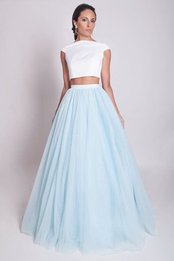 Free Shipping 100cm Blue Long Skirts Maxi Adult Tulle Skirt New Elegant falda tul mujer Одежда и ак�е��уары<br><br><br>Aliexpress