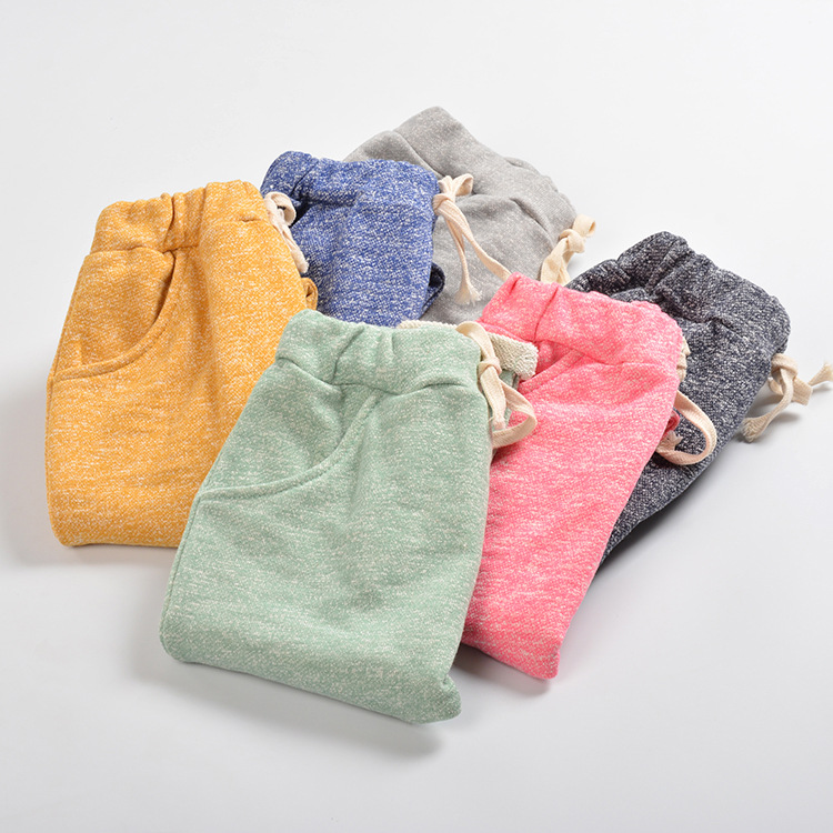 2015 autumn new cute candy color terry harem capris pants for age 2 8 girls or