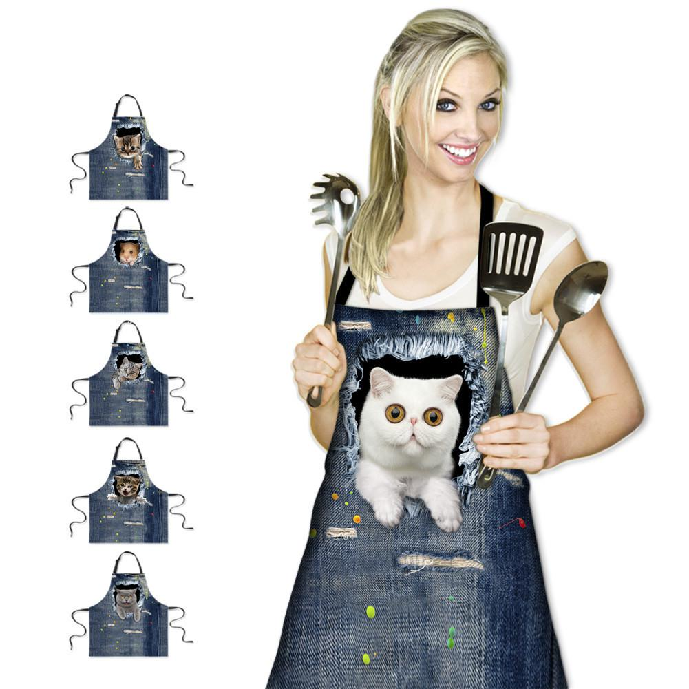 Manufacturers Selling New Korean Sleeveless Cotton Apron Apron Halter Antifouling Apron 3d Foreign Trade(China (Mainland))
