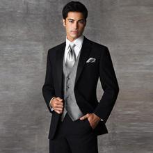 Formal Brand Men Wedding Suit Business Suits Slim Fit Men's Clothing Suits With Pants Groom Tuxedos Suits (Jacket+Vest+Pants)