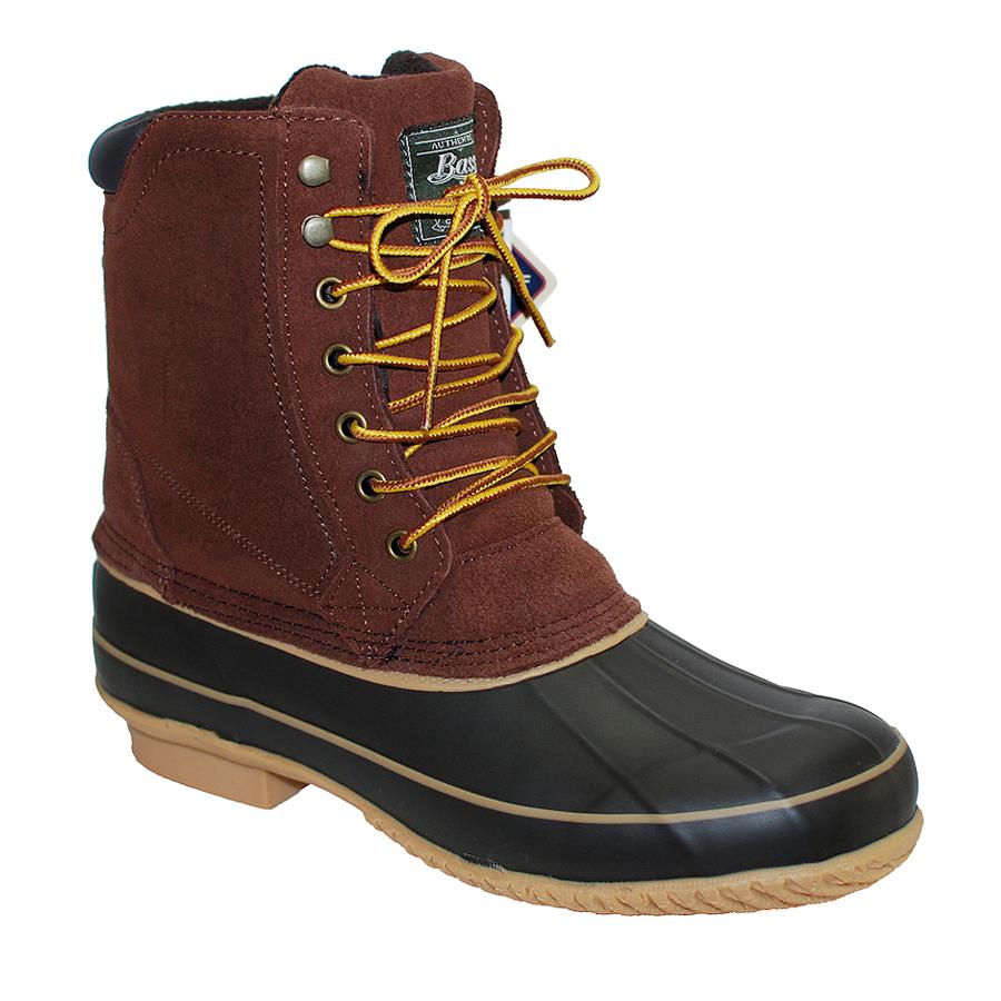 g h bass fleece lined s brown suede winter duck boot