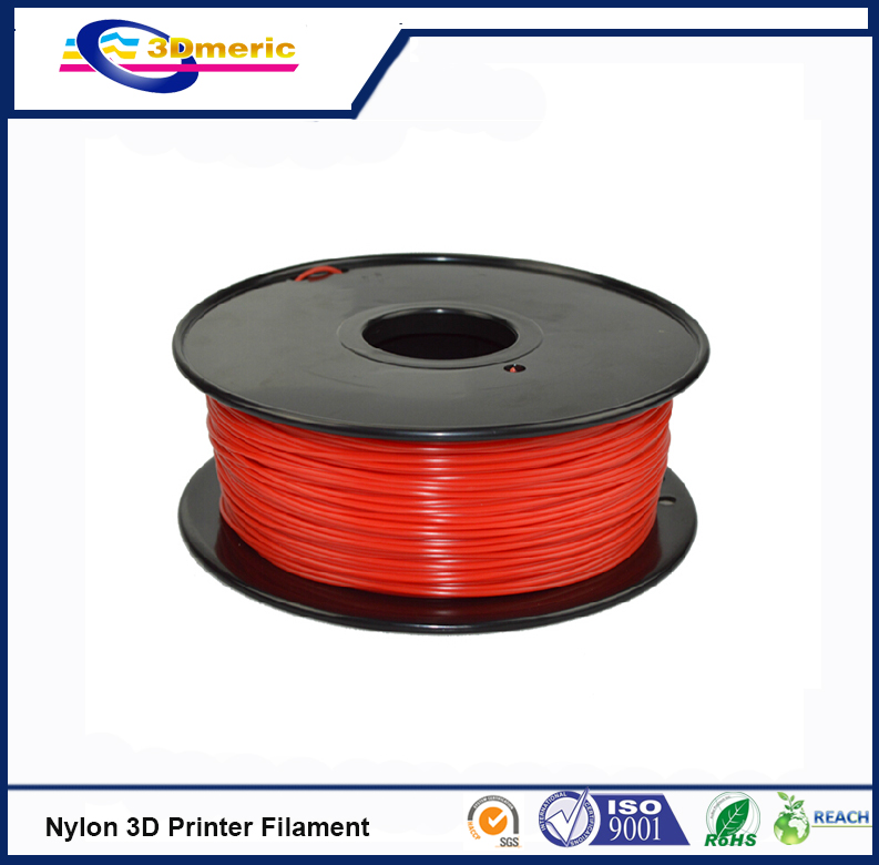 3D printer filament 1 75mm Nylon PA extruded plastic Red colour 3D printer material high strength
