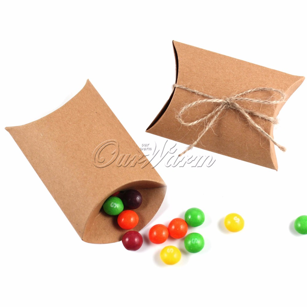 online get cheap favor paper pillow box com alibaba 20pcs kraft paper candy box cute pillow gift bag candy boxes wedding favors and gifts box for guests high quality cheap price