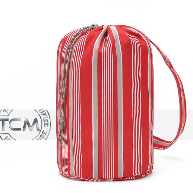 Red stripe travel fitness shoe underwear socks storage bag sorting bags