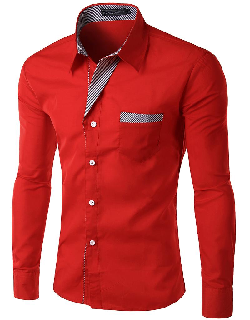 2015 New Dress Fashion Quality Long Sleeve Shirt Men.Korean Slim Design,Formal Casual Male Dress Shirt.13 colors.M-XXXXL.8012(China (Mainland))