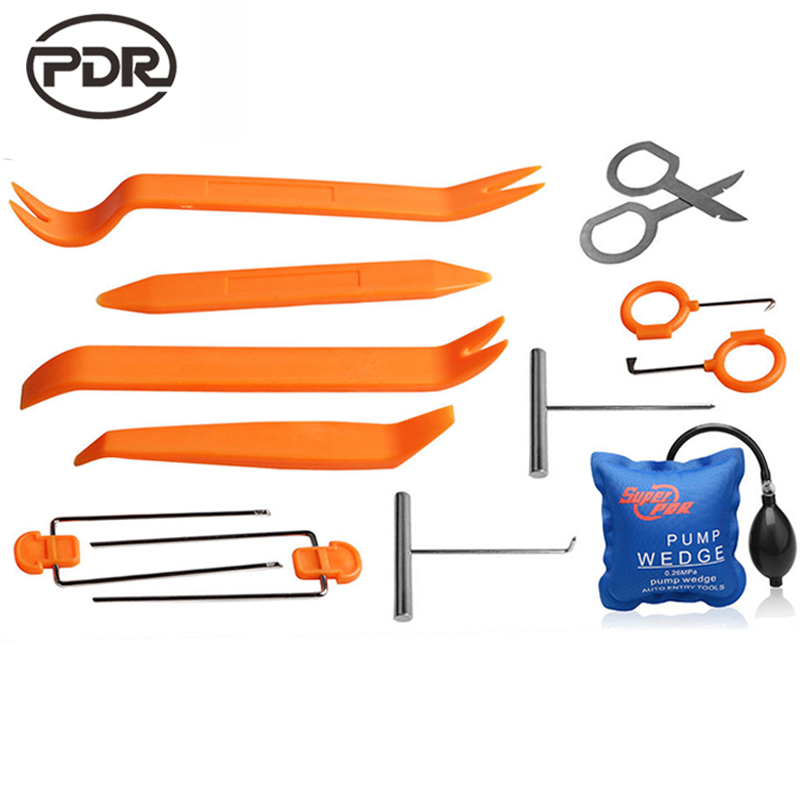 Super PDR Lock Picks Kit Lock Pick Set Machine For Making Keys Locksmith Tools Pump Wedge Lock Pick Car Opening Tools 13 pcs/set(China (Mainland))