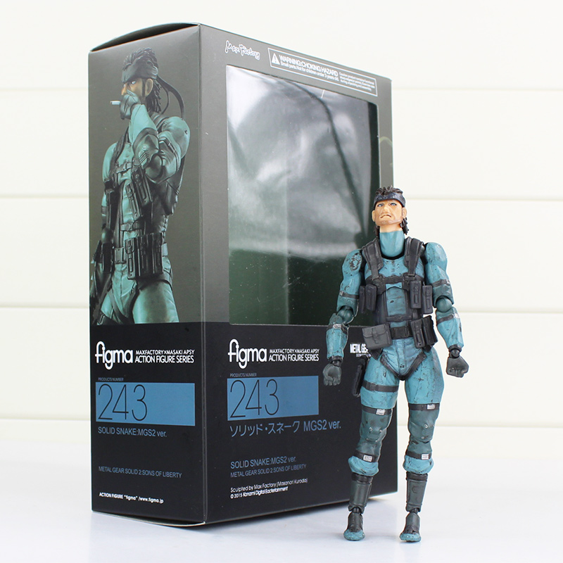 J.G Chen METAL GEAR SOLID 2: SONS OF LIBERTY Figma 243 Snake PVC Action Figure Collectible Model Toy 15cm
