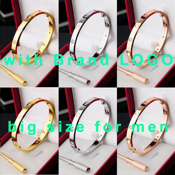 carter love bracelet bangles brand silver rose gold plated fashion men women fine jewelry gift couple gold bracelet screwdriver(China (Mainland))