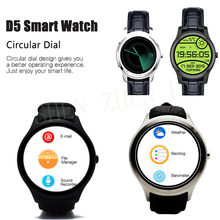 2016 Newest NO.1 D5 Smartwatch 1.3″ 360×360 Android 4.4 OS 512MB + 4GB MTK6572 Smart Watch with GPS Wifi Bluetooth Heart Rate