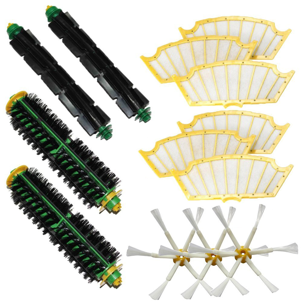 13 pcs/Lot Filters & Brush 6-armed for iRobot Roomba 500 Series Vacuum 510 530 532 535 540 550 560 562 570 572 580 581 590 610(China (Mainland))