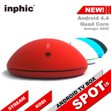 Inphic Spot i5 Android TV Box with KODI Fully loaded Amlogic S805 Quad core Android 4.4 8GB eMMC WiFi Miracast HDMI beating MXQ(China (Mainland))