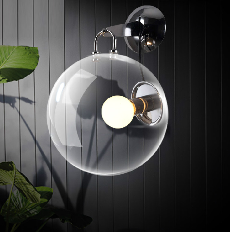 Bar light Retro Industrial wall lamp Hotel room project bedroom Cafe glass lighting bubbles novelty reading - sunny store