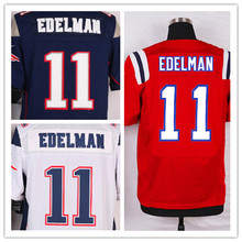 Mens Patriots 11 Julian Edelman Elite Football Jerseys Color Blue Red White Size M-3XL Best Quality Free shipping