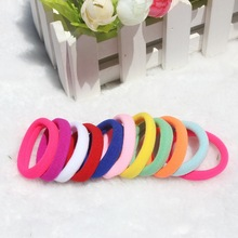 TS 50pcs/lot Candy Colored Hair Holders High Quality Rubber Bands Elastics Hair Accessories Girl Tie Gum haar headwear for women(China (Mainland))