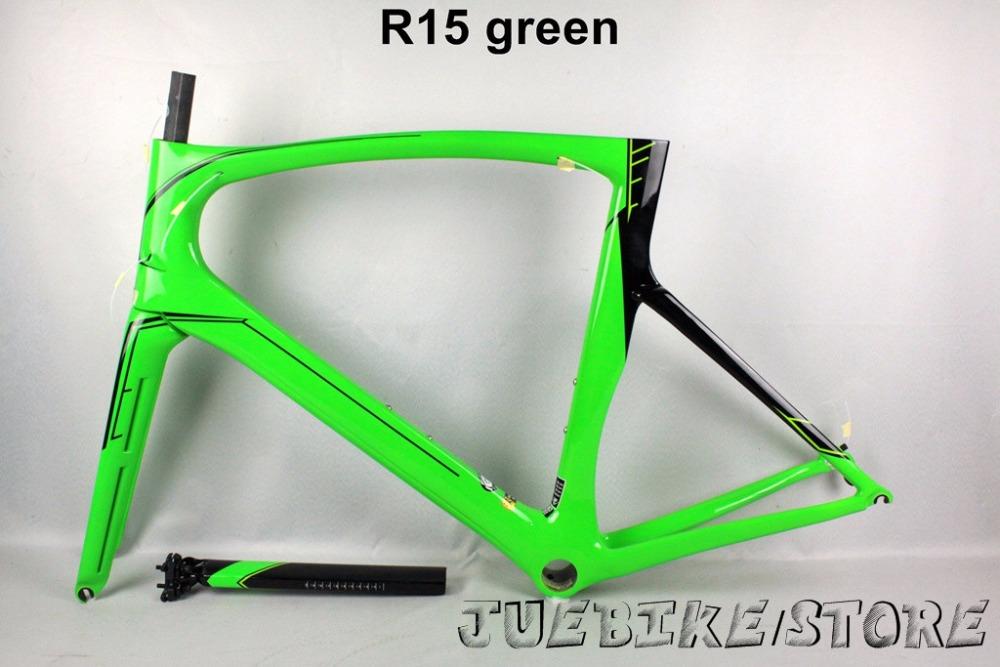 Carbon bike 009 green OEM road bike frame t1000 carbon bike frameset PF30 glossy china racing bike 130*9mm accept customized(China (Mainland))