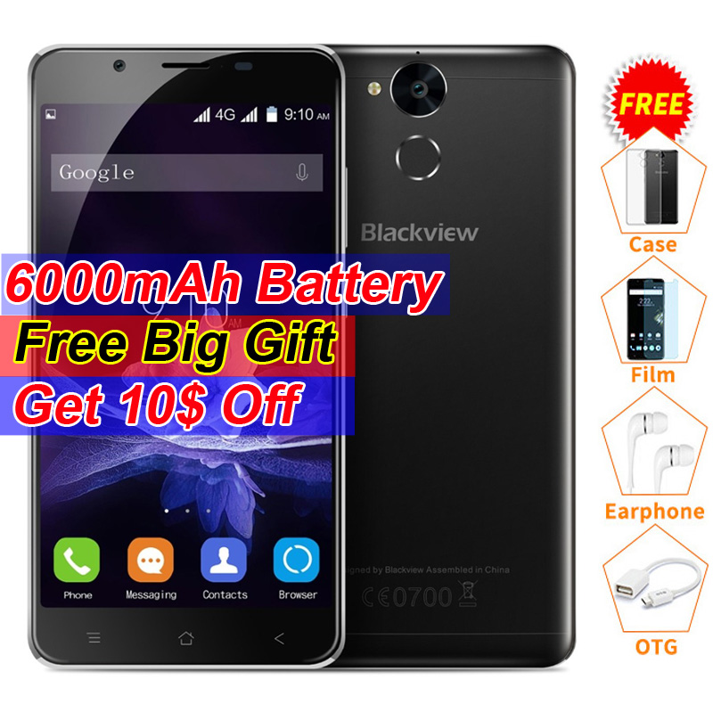 Blackview P2 Smartphone 5.5 inch FHD 6000mAh MTK6750T Octa Core 4G RAM 64G ROM Fingerprint ID 8MP+13MP Camera LTE Mobile Phone  -  iTouch Store store