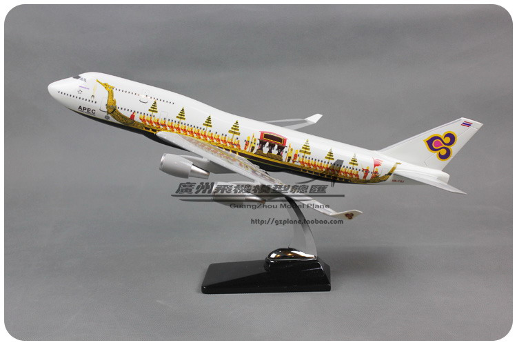 47cm Resin Air THAI Airlines Dragon Boeing B747 400 Airways Plane Model Airplane Model Toy Collections Decoration Gift(China (Mainland))