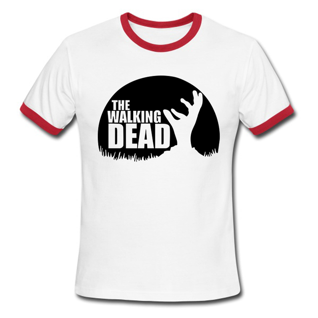 The Walking Dead T-Shirt – Men Cotton O Neck Top Letters Tees