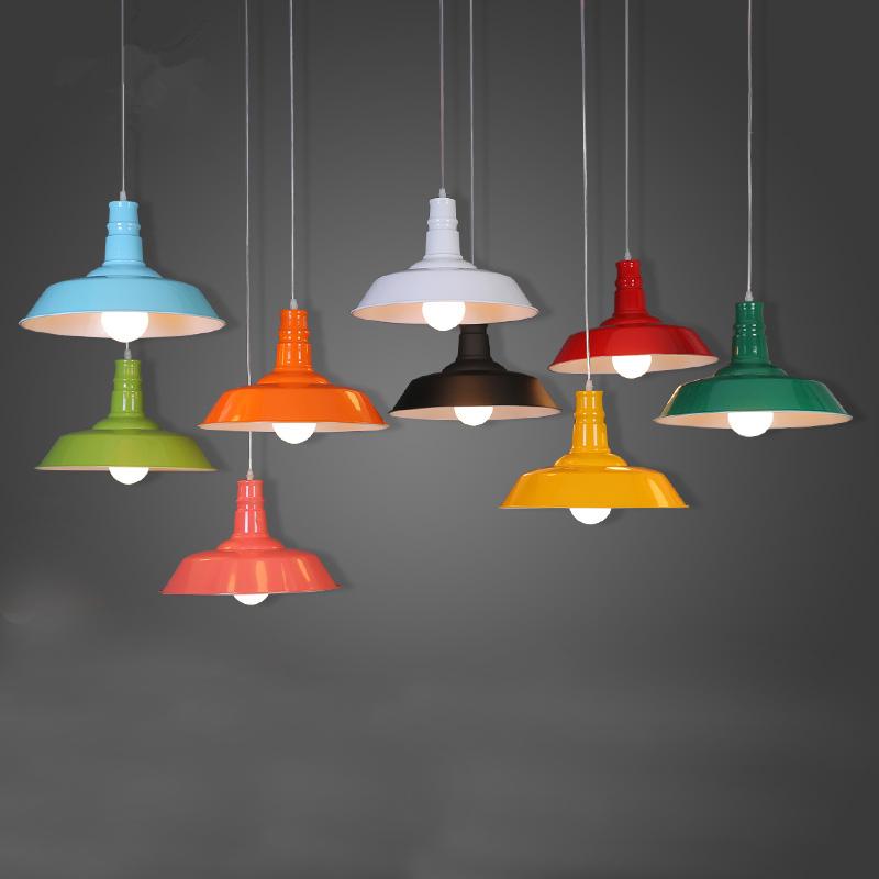 Retro Loft Dining Room Creative Vintage Pendant Lamp Pendant Light Home Living Room White/Black/Brown/Green/Blue/Red PLL-244(China (Mainland))