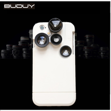 DHL Shipping Phone Case For iPhone6 6S Plus With 4 In 1 Macro Fisheye Wide Angle Telephoto Camera Lens
