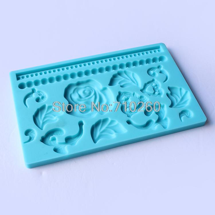 A102 Free shipping Fondant tool Rose shape baking mold silicone embossing die sugar Arts flower(China (Mainland))