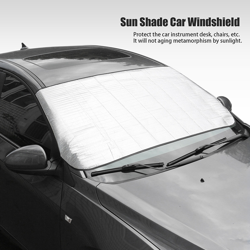Window Aluminum Foil Sun Shade Car Windshield Visor Cover Block Front Window Sunshade UV Protect Car Window Film 150*70cm(China (Mainland))