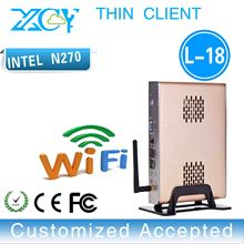 Intel atom N270 Fanless mini pcs desktop computer networking N270 motherboard support video film can optional HDD/RAM.