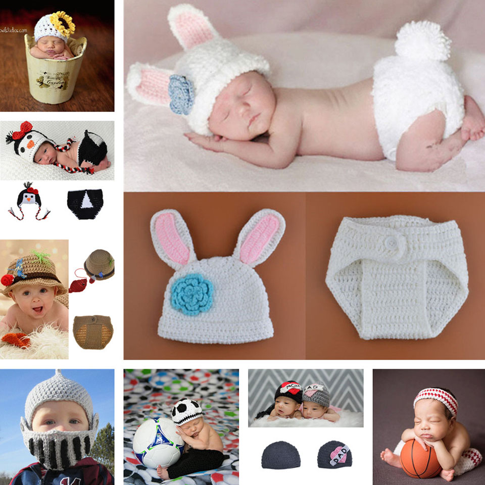 Hot sale Baby Hat Newborns Photography Props Infant Knitting Baby Crochet Costume Soft Adorable Athletes Clothes MZS-15040(China (Mainland))