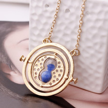 Sunshine Happy Potter Colorful Hourglass Rotating Pendant Unisex Jewelry Time Turner Popular Antique Necklace Fine Gift