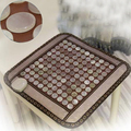Tourmaline Jad Thermal Pad with Ochre Heathy Heating Massage Function for Chairs Sofa Bed, Far Inrared Electric Thermal Mattress