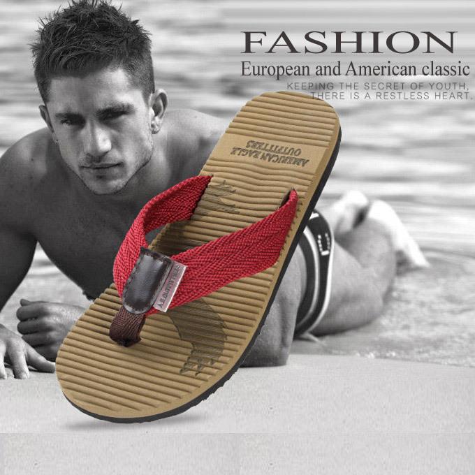 New2015 Summer beach slippers men shoes Casual Men's flat heel flip flops home/ Sandals Free Shipping(China (Mainland))