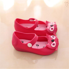 Mini Melissa Shoes 2016 Summer girls Sandals Cute Girls shoes Children Baby Shoes For Girl shoes size EUR24-29 mini melissa(China (Mainland))