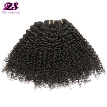ZS hair malaysian curly hair 4bundles virgin malaysian curly hair grade 7A malaysia afro kinky curly hair weave