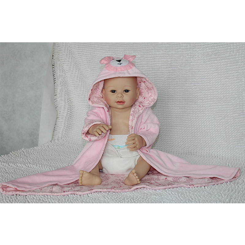 UCanaan Full Silicone Vinyl 50-55cm Reborn Baby Doll Handmade Hard Body Baby Toys with Pink Clothes Best Gift to Child Play <br><br>Aliexpress