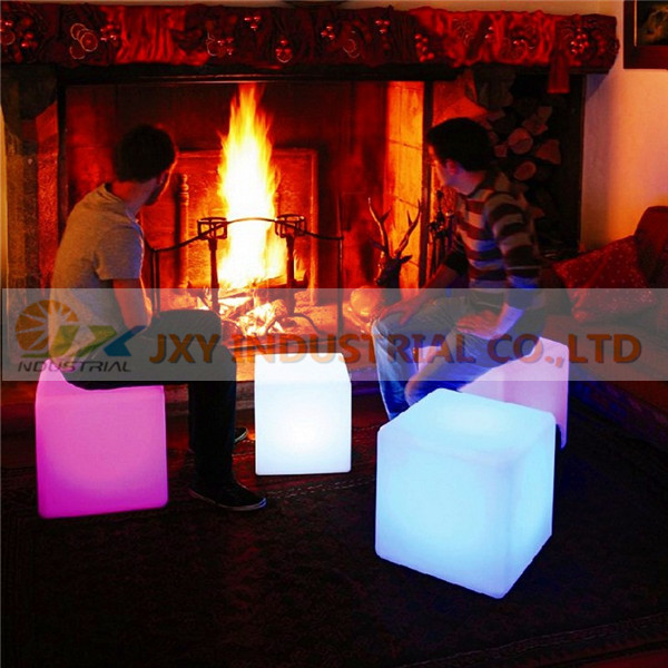 Factory price waterproof RGB Inductive charging rechargeable rgb led cube chair(China (Mainland))