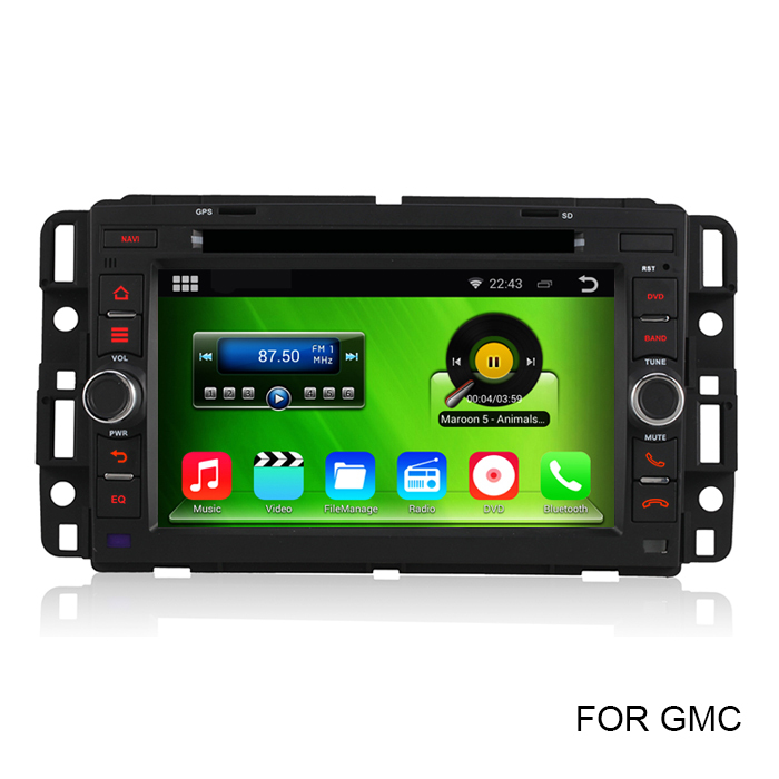 HD 1024*600 2 Din Pure Android 4.4 Car DVD Video Player For GMC Yukon Denali Chevrolet Buick With GPS Radio RDS WiFi DVR CANBUS(China (Mainland))