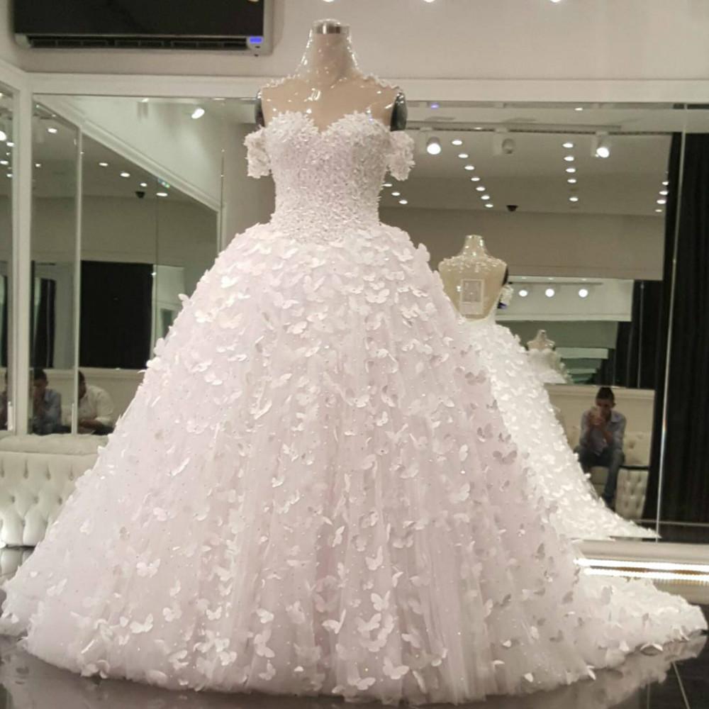 Hochzeitskleid Mit Schmetterlingen: Chiffon a linie hochzeitskleid ...
