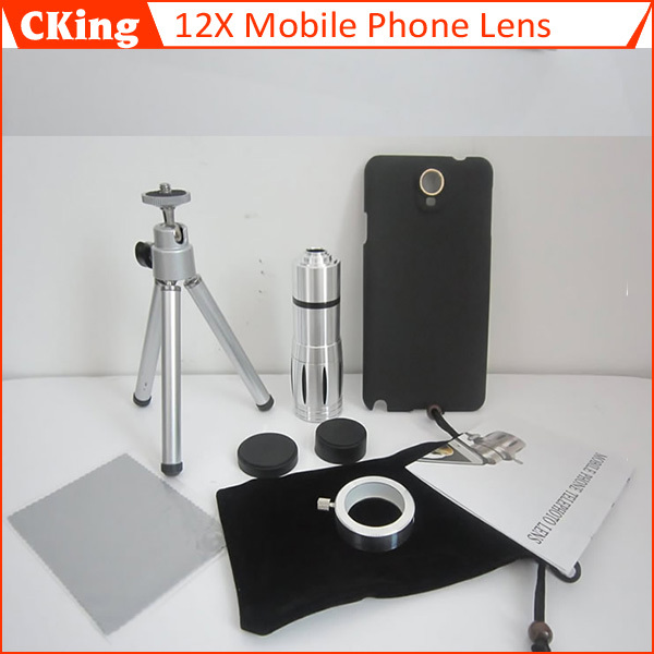 Mobile phone 12X Zoom telescope Lens For Samsung note3 n9005 For iphone4/4s