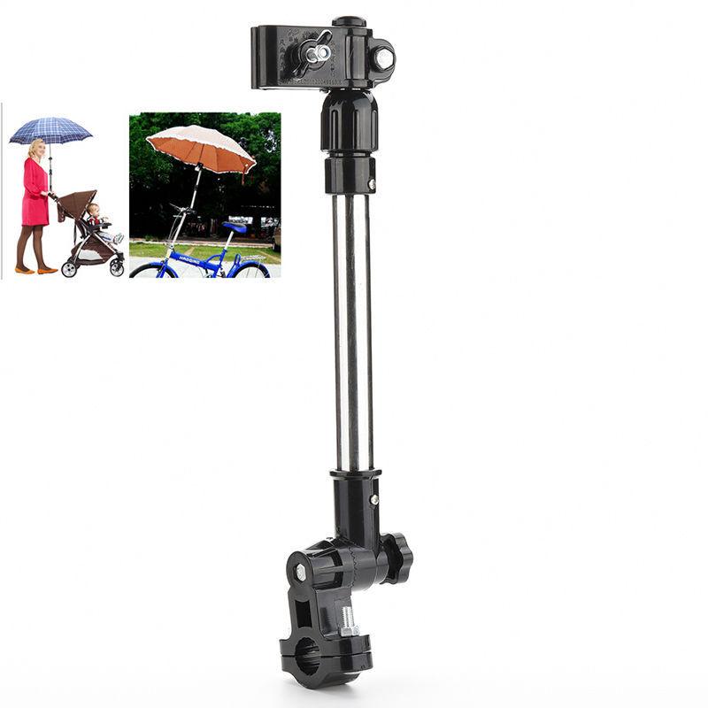 1 шт. полезная инвалидной коляске велосипед зонт установка зонт бар держатель стенд ручка поворотный зонт разъем коляска держатель