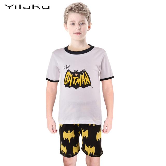Летом денщик комплект одежды я бэтмен Pijamas дети 2 шт. пижамы костюм дети мальчики девочки пижама цена от производителя CF209