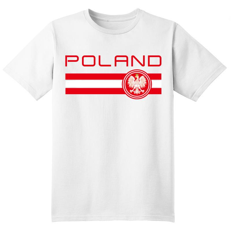 2017 Poland Tops Tees T shirt Camiseta Warsaw Lewandowski Piotr Zielinski Grzegorz Krychowiak Lukasz Adam Nawalka fans T-shirt(China (Mainland))