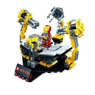 Гаджет  2015 Hot Develop intellectual toys Iron Man Iron Man suit base platform for children Building Blocks toys Assemble toys for lego None Игрушки и Хобби